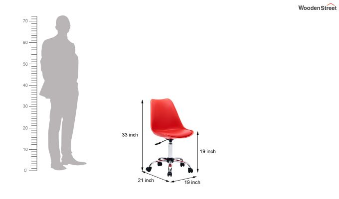 Stylish Modern Rotary Chair (Red)-6