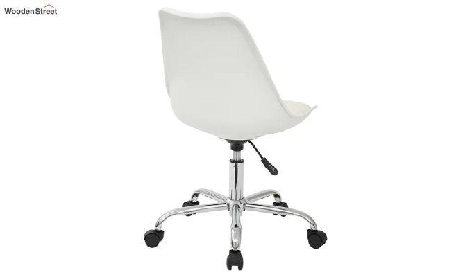 Stylish Modern Rotary Chair (White)-4