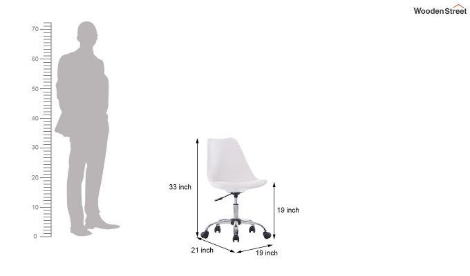 Stylish Modern Rotary Chair (White)-5