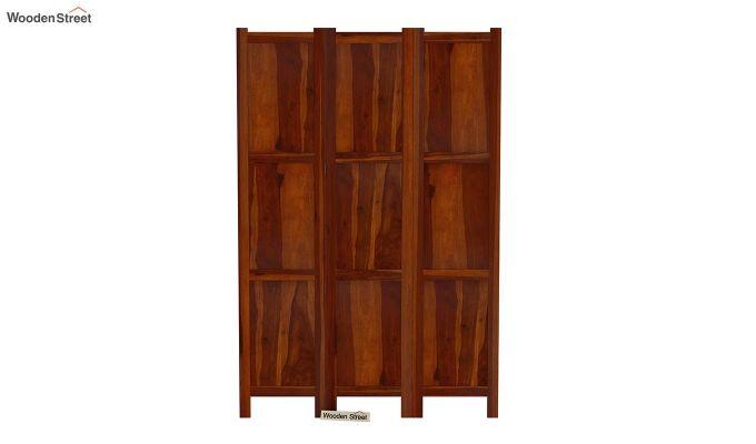 Artek 3 Panel Room Partition (Honey Finish)-3