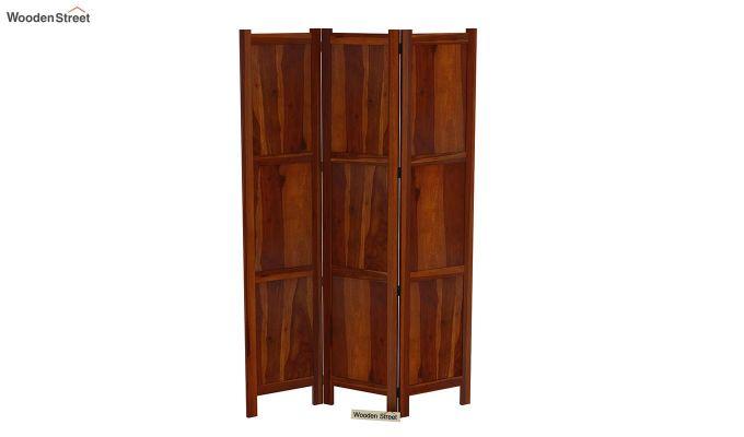Artek 3 Panel Room Partition (Honey Finish)-5