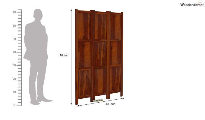 Artek 3 Panel Room Partition (Honey Finish)-6