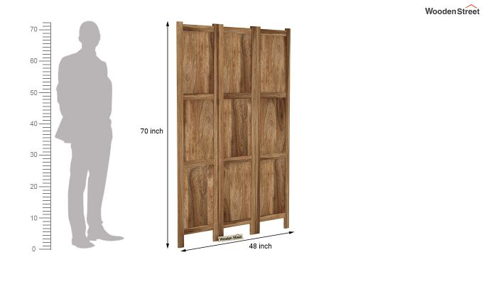 Artek 3 Panel Room Partition (Natural Finish)-6