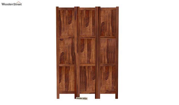Artek 3 Panel Room Partition (Teak Finish)-3