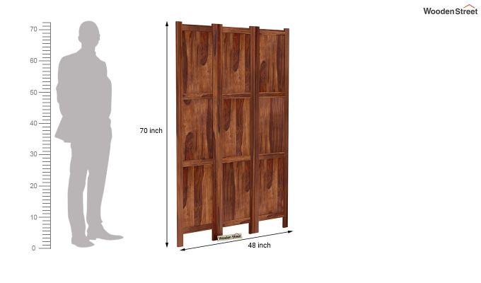 Artek 3 Panel Room Partition (Teak Finish)-6