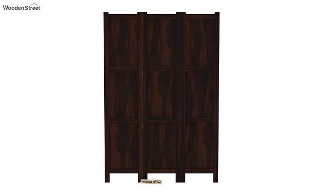 Artek 3 Panel Room Partition (Walnut Finish)-3