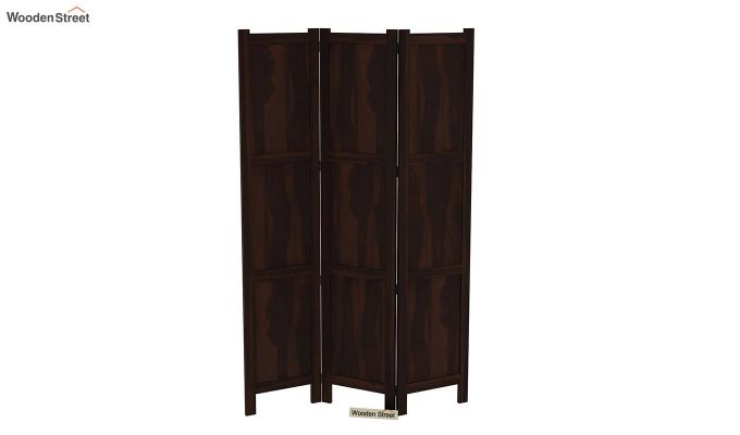 Artek 3 Panel Room Partition (Walnut Finish)-5
