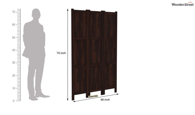 Artek 3 Panel Room Partition (Walnut Finish)-6