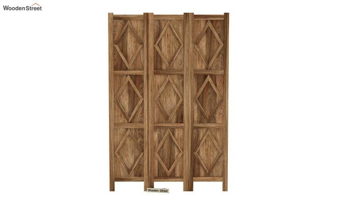 Cluster 3 Panel Room Partition (Natural Finish)-3