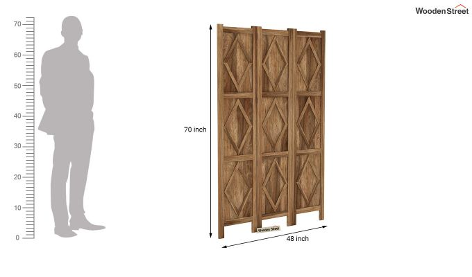 Cluster 3 Panel Room Partition (Natural Finish)-6