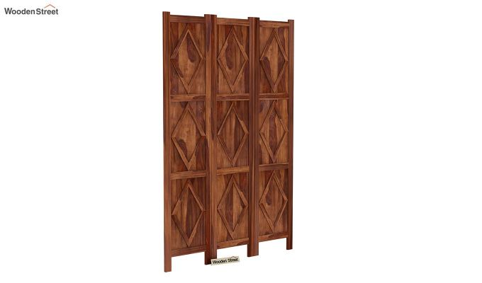 Cluster 3 Panel Room Partition (Teak Finish)-2