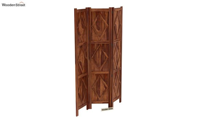 Cluster 3 Panel Room Partition (Teak Finish)-5