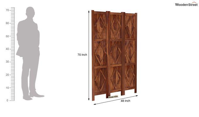 Cluster 3 Panel Room Partition (Teak Finish)-6