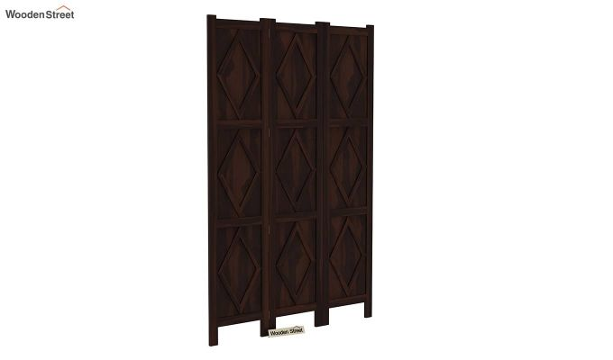 Cluster 3 Panel Room Partition (Walnut Finish)-2