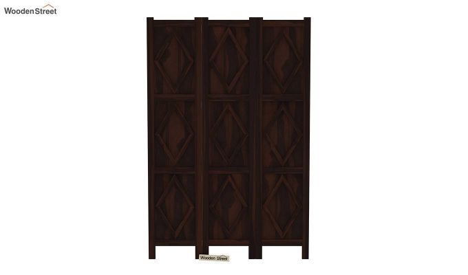 Cluster 3 Panel Room Partition (Walnut Finish)-3