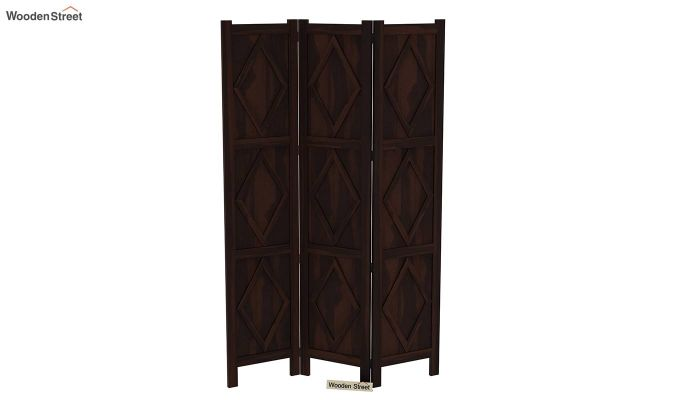 Cluster 3 Panel Room Partition (Walnut Finish)-4