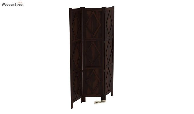Cluster 3 Panel Room Partition (Walnut Finish)-5