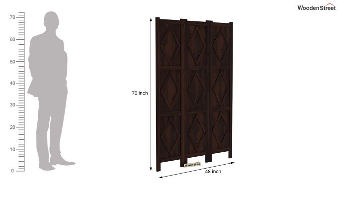 Cluster 3 Panel Room Partition (Walnut Finish)-6