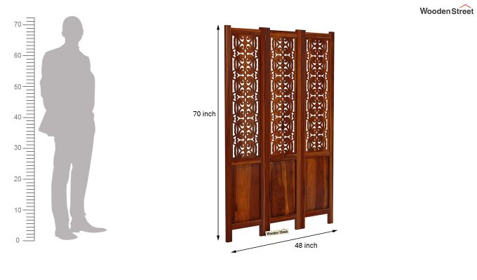 Knoll 3 Panel Room Partition (Honey Finish)-6