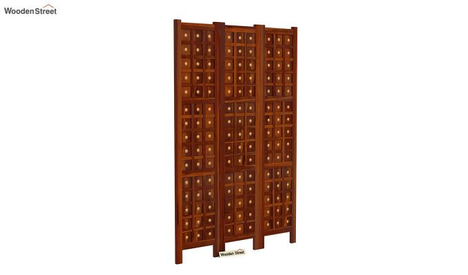 Umbra 3 Panel Room Partition (Honey Finish)-2