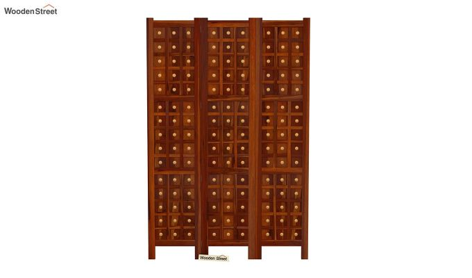 Umbra 3 Panel Room Partition (Honey Finish)-3