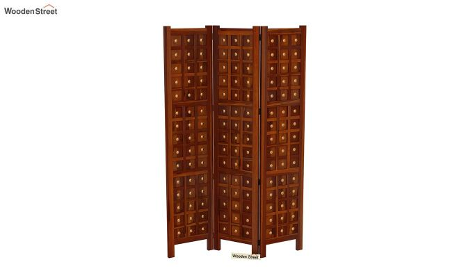Umbra 3 Panel Room Partition (Honey Finish)-4