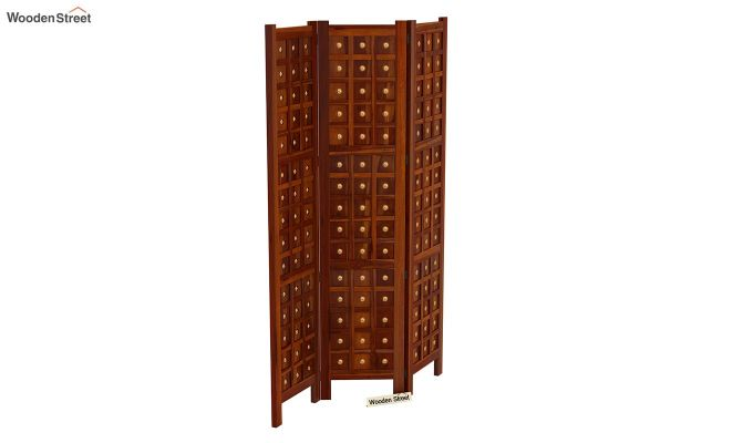 Umbra 3 Panel Room Partition (Honey Finish)-5
