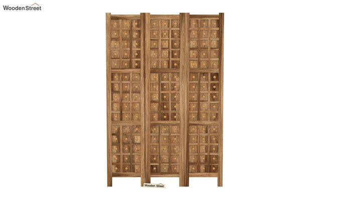 Umbra 3 Panel Room Partition (Natural Finish)-3