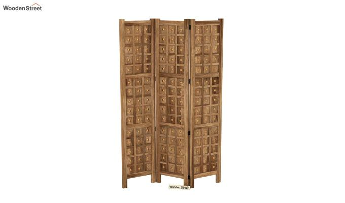 Umbra 3 Panel Room Partition (Natural Finish)-4