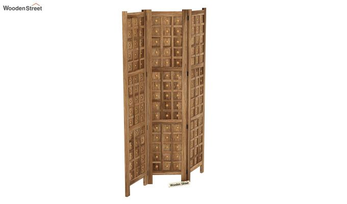 Umbra 3 Panel Room Partition (Natural Finish)-5