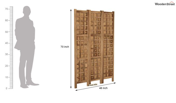 Umbra 3 Panel Room Partition (Natural Finish)-6