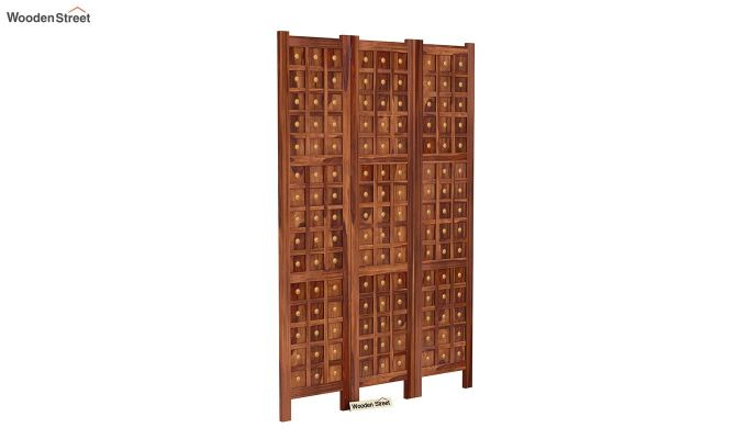 Umbra 3 Panel Room Partition (Teak Finish)-2