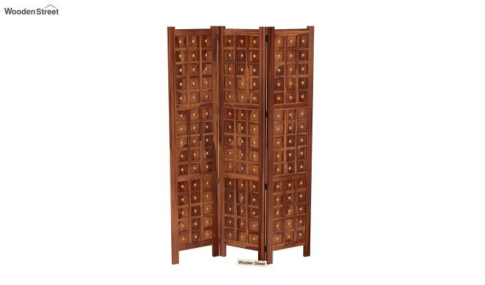 Umbra 3 Panel Room Partition (Teak Finish)-4