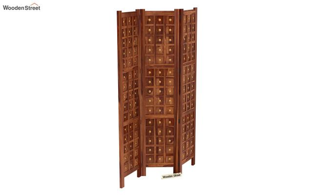 Umbra 3 Panel Room Partition (Teak Finish)-5