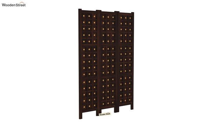 Umbra 3 Panel Room Partition (Walnut Finish)-2