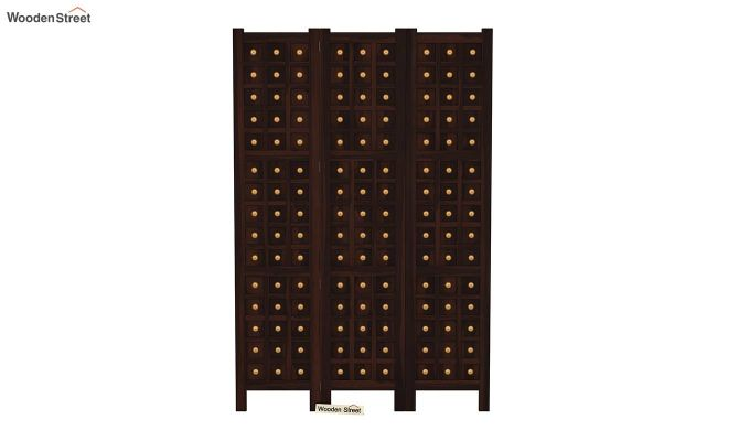 Umbra 3 Panel Room Partition (Walnut Finish)-3