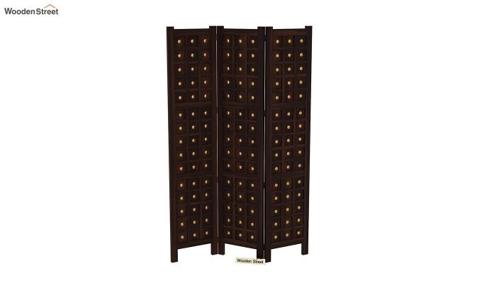 Umbra 3 Panel Room Partition (Walnut Finish)-4