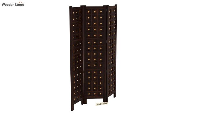 Umbra 3 Panel Room Partition (Walnut Finish)-5