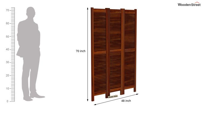 Vitra 3 Panel Room Partition (Honey Finish)-6