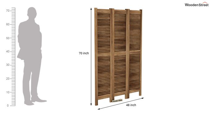 Vitra 3 Panel Room Partition (Natural Finish)-6