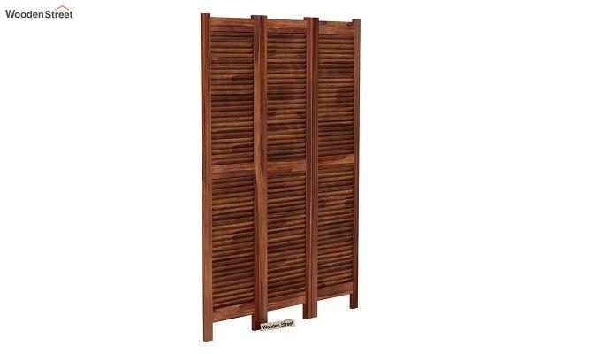 Vitra 3 Panel Room Partition (Teak Finish)-2
