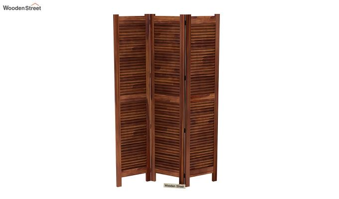 Vitra 3 Panel Room Partition (Teak Finish)-4