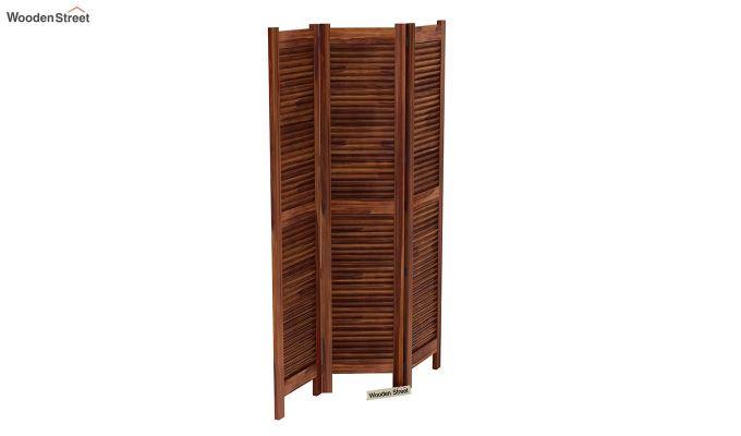 Vitra 3 Panel Room Partition (Teak Finish)-5