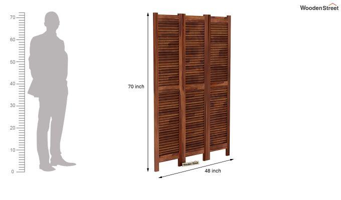 Vitra 3 Panel Room Partition (Teak Finish)-6