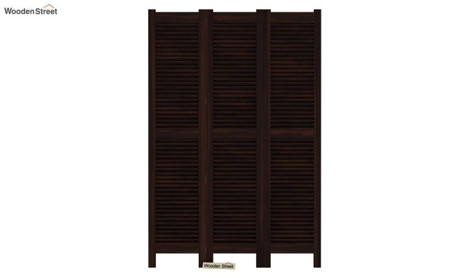 Vitra 3 Panel Room Partition (Walnut Finish)-3