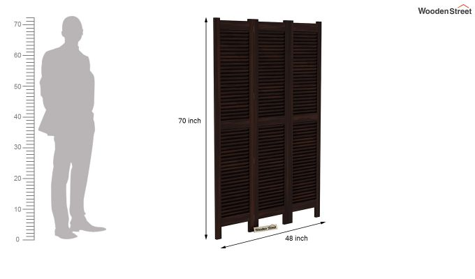 Vitra 3 Panel Room Partition (Walnut Finish)-6