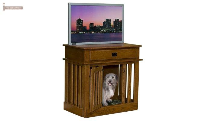 Abel Dog Kennel (Teak Finish)-2
