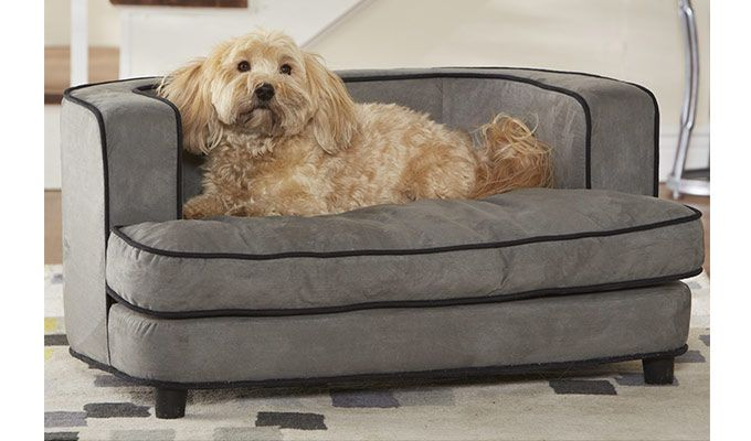 Lily Dog Sofa Bed (Warm grey)-1