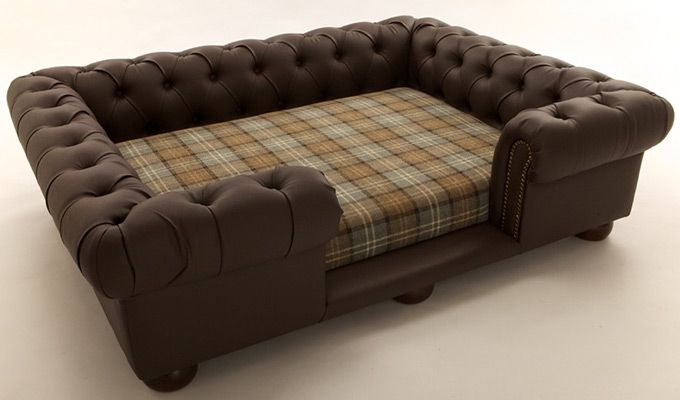 Lombard Dog Sofa Bed (Classic Brown)-1