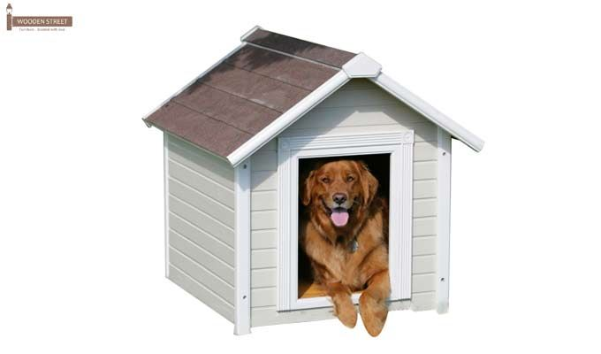 Maple Dog House (White Finish)-1
